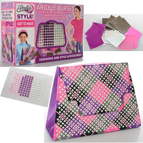 b874d9a376fc Набор для творчества 839 сумочка, наклейки для украшения сумки, в  кор-ке,27,5-19-10см